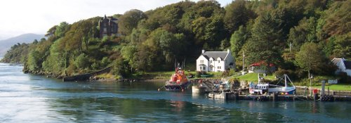 Port Askaig with RNLI lifeboat station, Islay